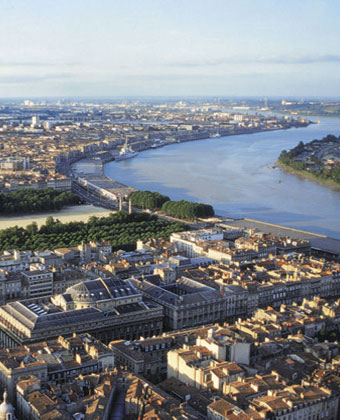 River Garonne at Bordeaux