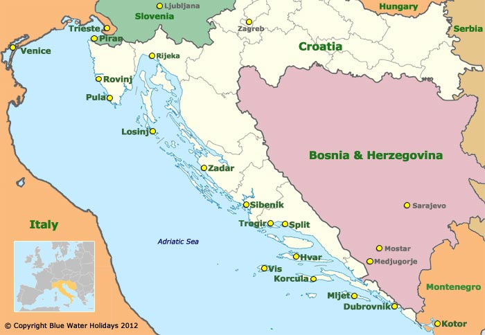 Dalmatian Coast Croatia Cruise Croatia Coast Cruise Map
